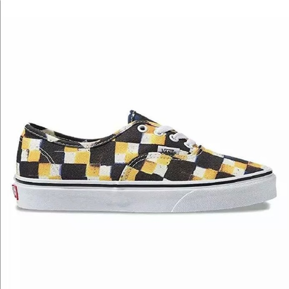Vans Other - Vans Authentic Double Check Sailor Blue Yolk Yello